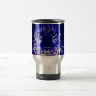 cheetah blue fractal design travel mug