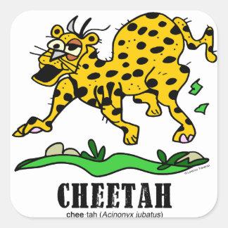 Cheetah by Lorenzo © 2018 Lorenzo Traverso Square Sticker