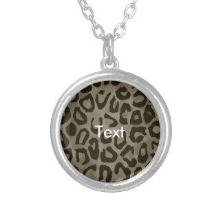 Cheetah Camouflage Round Pendant Necklace