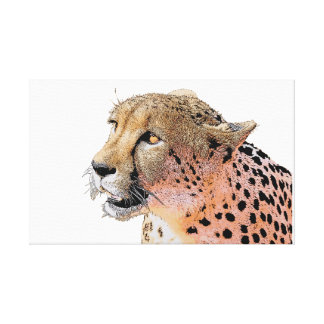 Cheetah close-up golden eyes canvas print