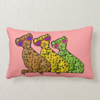 Cheetah Cool Cats Lumbar Pillows