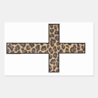 Cheetah Cross Sticker