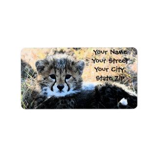 Cheetah Cub address label