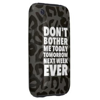 Cheetah Don't Bother Me iPhone 3 Tough Cover