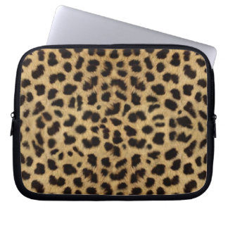 Cheetah Fur Pattern, Cheetah Print Laptop Computer Sleeve