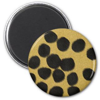 Cheetah fur texture print 6 cm round magnet