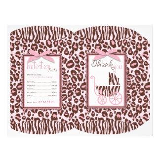 Cheetah Girl Gift Puff Box Template Flyer