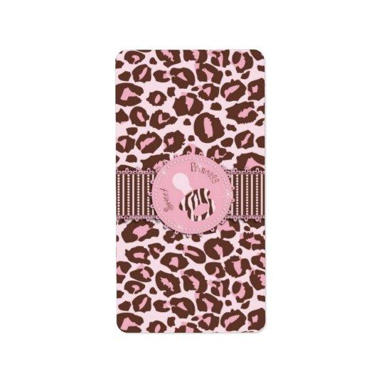 Cheetah Girl Mini Candy Bar Label B2