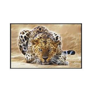 cheetah Glowing  Wrapped Stretched Canvas Print