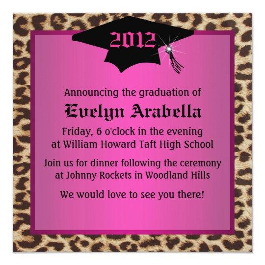 Cheetah Graduation Announcement