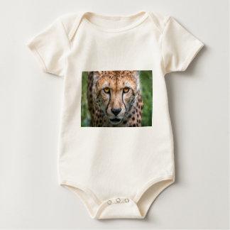 Cheetah Head Baby Bodysuit