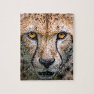 Cheetah Head Jigsaw Puzzle