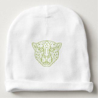 Cheetah Head Mono Line Baby Beanie