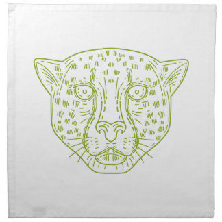 Cheetah Head Mono Line Napkin