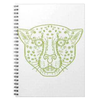 Cheetah Head Mono Line Spiral Notebook