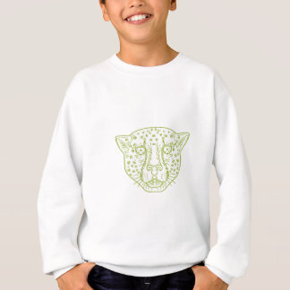 Cheetah Head Mono Line Sweatshirt