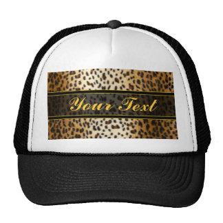 Cheetah Leopard Faux Animal Print Cap