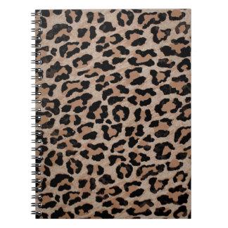 cheetah leopard print notebook