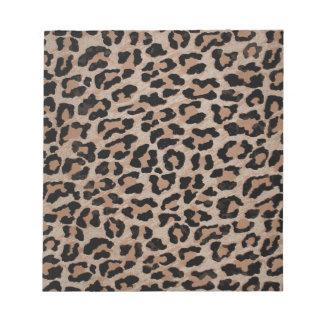 cheetah leopard print notepad