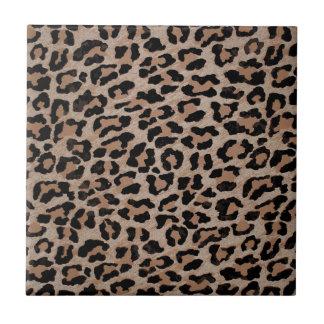 cheetah leopard print small square tile