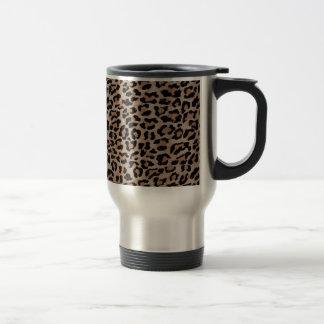 cheetah leopard print travel mug