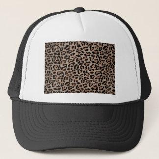 cheetah leopard print trucker hat