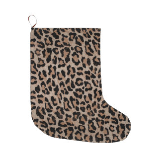 cheetah leopard print xmas christmas stocking