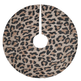 cheetah leopard print xmas christmas tree skirt