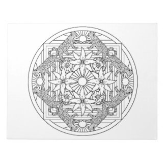 Cheetah Mandala Coloring Book Pad