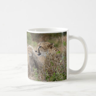 Cheetah Mother and Cub Coffee Mug