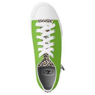 Cheetah/Neon Green Sneakers