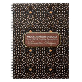 Cheetah Orange Black Decorative Modern Notebook