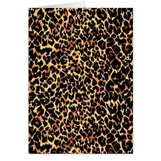 Cheetah Pattern Card