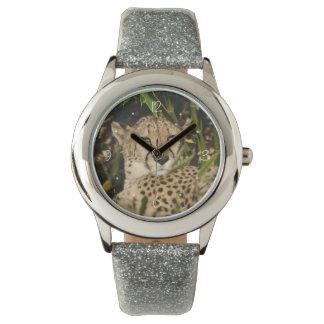 Cheetah photograph wrist watches