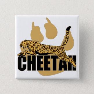Cheetah Power 15 Cm Square Badge