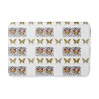 Cheetah Print Butterfly, Bath Mat