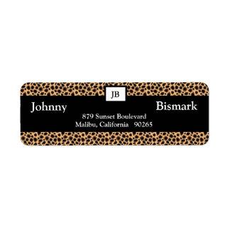 Cheetah Print Customizable Address Label
