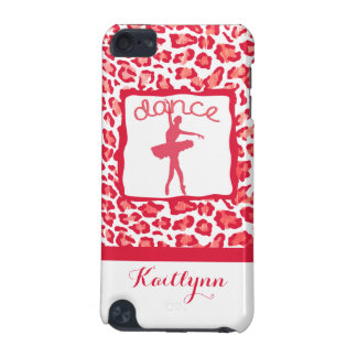 Cheetah Print Dance in Red iPod Touch 5 Case iPod Touch 5G Covers