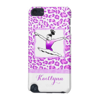 Cheetah Print Gymnastics in Purple iPod Touch Case