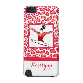 Cheetah Print Gymnastics in Red iPod Touch 5 Case iPod Touch (5th Generation) Cases