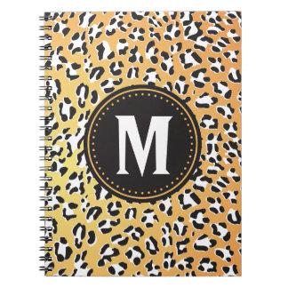 Cheetah Print Monogrammed Notebook