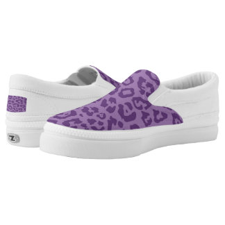 Cheetah Print Purple (2) Printed Shoes