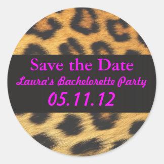 Cheetah Print Round Sticker