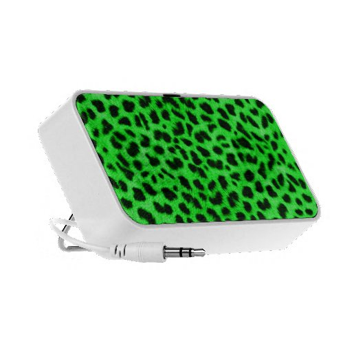 Cheetah Print Speakers (Green)