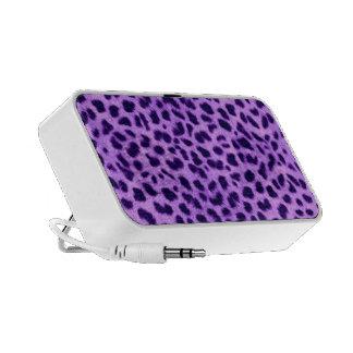 Cheetah Print Speakers Purple