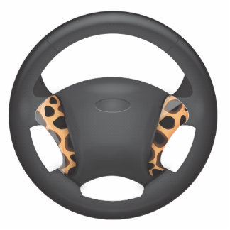 Cheetah  Print Steering Wheel Photo Sculptures