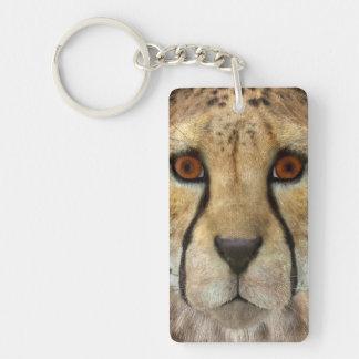 Cheetah Single-Sided Rectangular Acrylic Key Ring