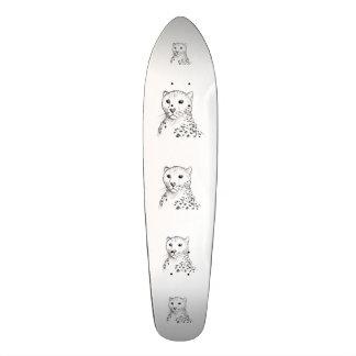 Cheetah Sketch. 19.7 Cm Skateboard Deck