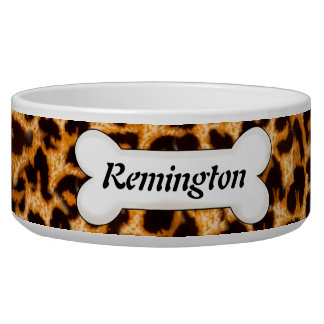Cheetah Skin Pattern Custom Dog Bowls