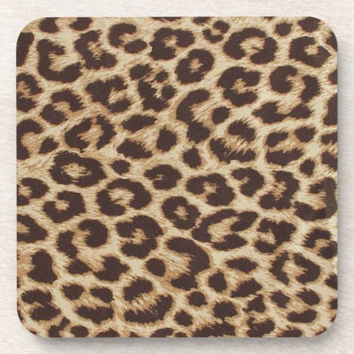 Cheetah Skin Print Drink Coasters